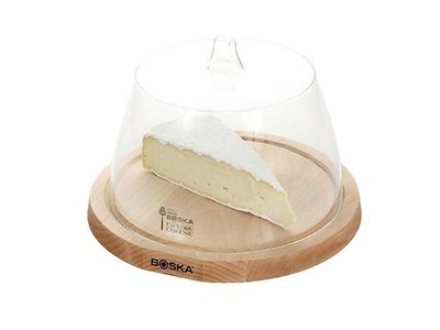 Boska Boska Beech cheese board with plastic dome 9.8 inches
