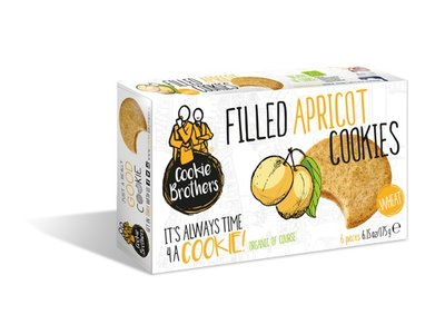 Cookie Brothers Cookie Bros Organic Wheat Apricot 175g