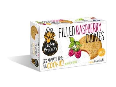 Cookie Brothers Cookie Bros Organic Wheat Raspberry 175g