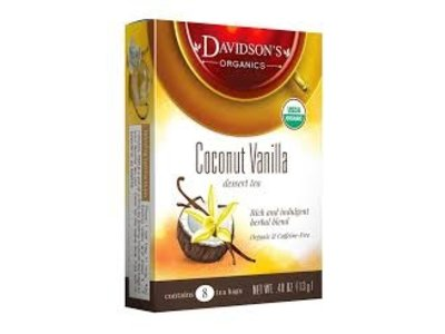 Davidsons Davidsons Coconut Vanilla Tea 8 ct