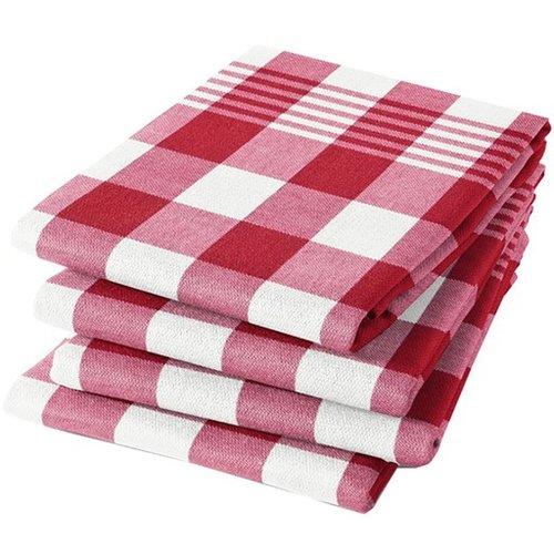 DDDDD DDDDD Block - red Tea Towel 24x25 inch