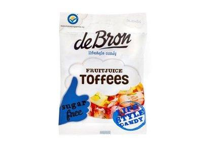 De Bron De Bron Sugar Free Fruit Toffees 3.5 Oz