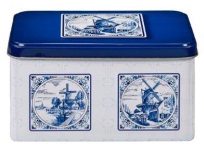 De Ruiter DeRuiter Blue Delft design Cookie Tin