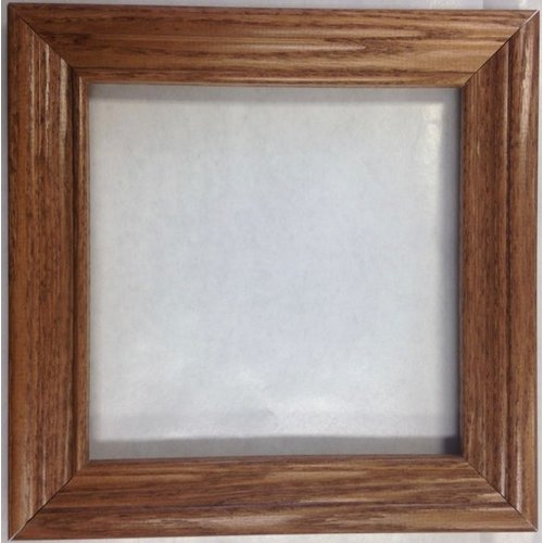 Oak 6x6 inch wood tile frame