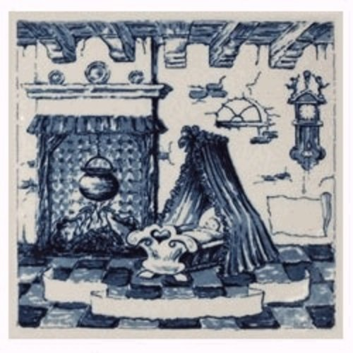 Delft Blue Crib Tile 6X6