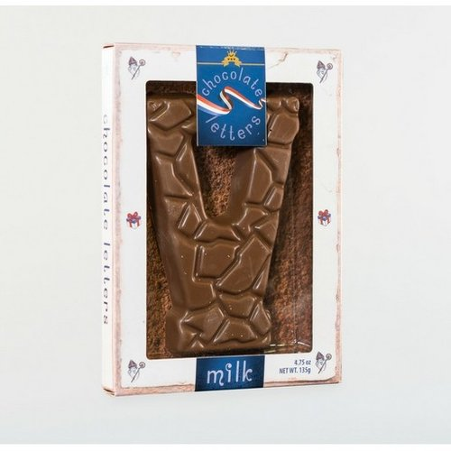 Dutch Letters DL V Milk Chocolate Letter 4.7oz