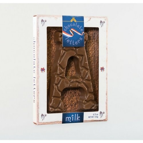 Dutch Letters DL A Milk Chocolate Letter 4.7oz