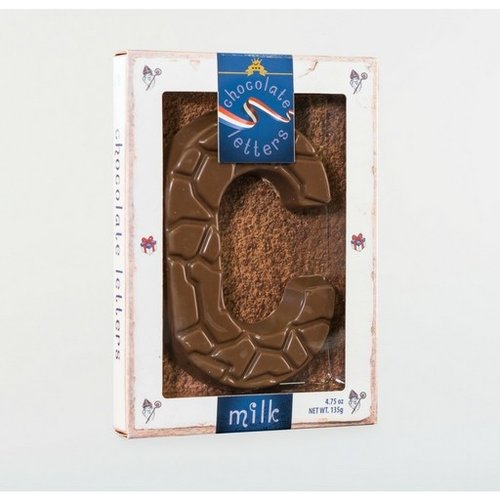 Dutch Letters DL C Milk Chocolate Letter 4.7oz