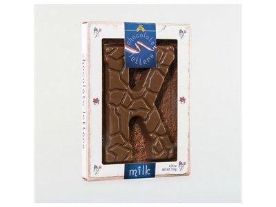 Dutch Letters DL K Milk Chocolate Letter 4.7oz