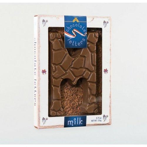 Dutch Letters DL M Milk Chocolate Letter 4.7oz