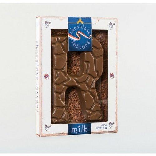 Dutch Letters DL R Milk Chocolate Letter 4.7oz