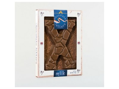 Dutch Letters DL X Milk Chocolate Letter 4.7oz