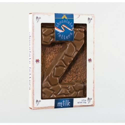 Dutch Letters DL Z Milk Chocolate Letter 4.7oz