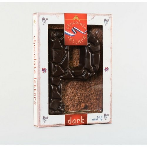 Dutch Letters DL P Dark Chocolate Letter 4.7oz