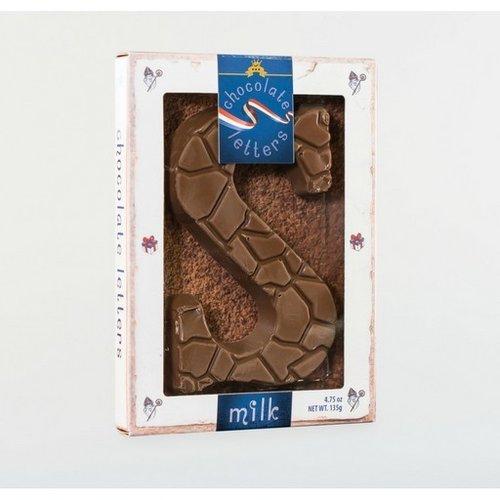 Dutch Letters DL S Milk Chocolate Letter 4.7oz