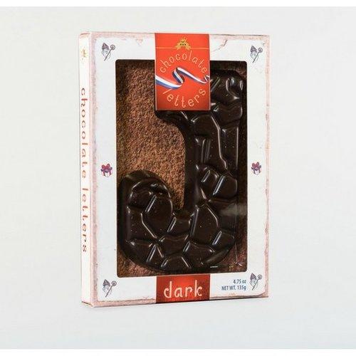 Dutch Letters DL J Dark Chocolate Letter 4.7oz