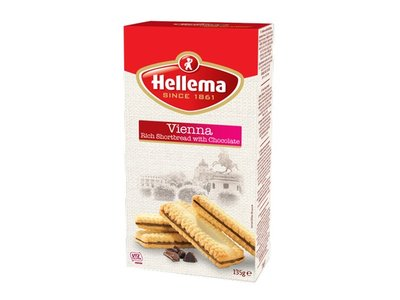 Hellema Hellema Vienna Shortbread with chocolate 4.76 oz box