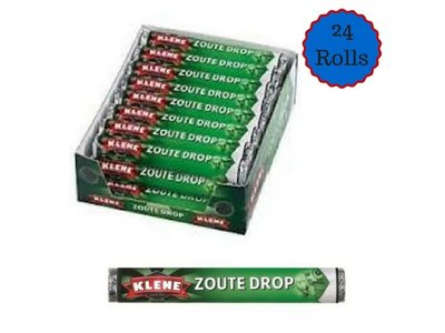 Klene Klene Zoute Licorice 24 Roll Box Special dated Dec 2018