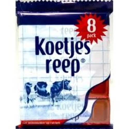 Koetje Belgium Chocolate Cow Bar 8Pk