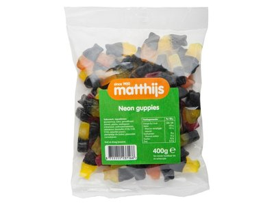 Matthijs Matthijs Neon Guppies Fruit & Licorice 400g