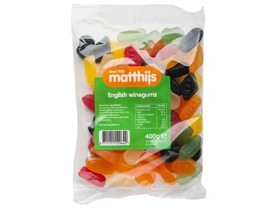 Matthijs Matthijs English Winegum 400g