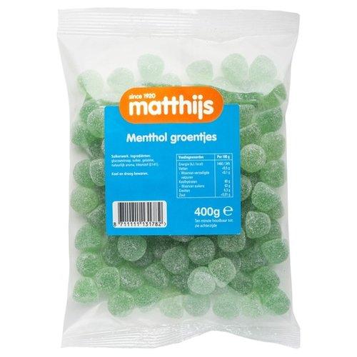 Matthijs Matthijs Menthol Groentjes 400g