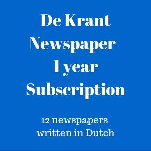 De Krant Dutch language newspaper 1 year subscription