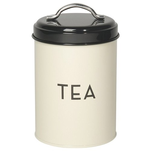 Tea Tin Ivory