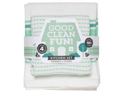 Cook Clean Fun Spearmint Kitchen Set 4pc
