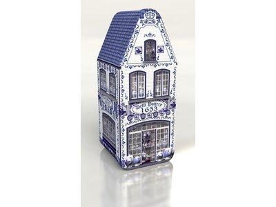 Delft Blue House Tin