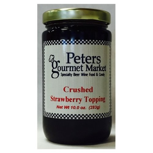 Peters Crushed Strawberry Topping 10.5 oz jar