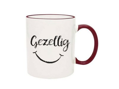 Gezellig Smiley Face - Maroon