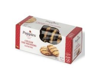 Poppies Poppies Chocolate Drizzled Coconut Macaroon Cookie 7.8