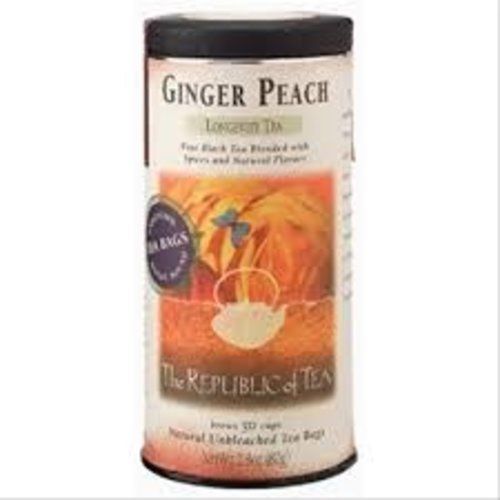 Republic Of Tea Republic Ginger Peach Black Tea 50 ct