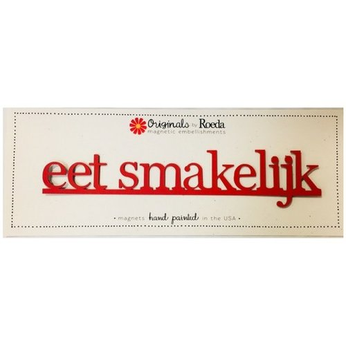 Roeda Studio Eet Smakelijk Magnet red - 9 x 1.9 inches