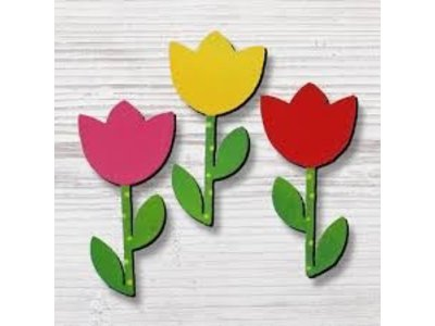 Roeda Studio Dutch magnets 3 pack Tulips 1.8 inches