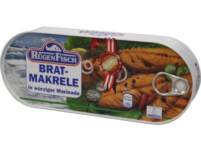 Rugenfisch Rugenfisch Fried Mackerel Fille Oil Tin