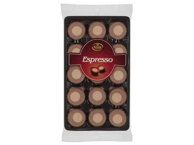 Sier Espresso Chocolate cups 4.4 oz tray