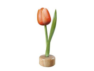 Tulip on Pedestal Orange/Red 3.25 inch