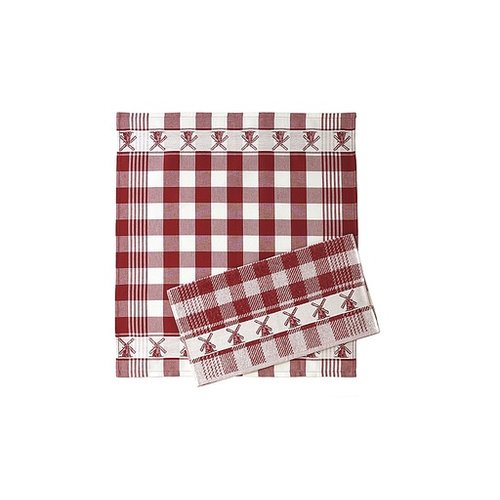 Twenstse Tea Towel Mill Red 25x23 inch