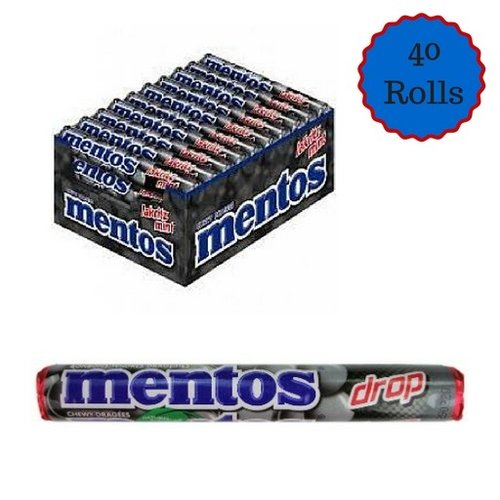 Van Melle Mentos Licorice 40 ct Box