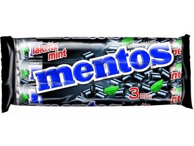Van Melle Mentos Licorice 3 Pack Rolls
