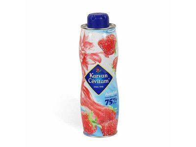 Karvan Fruit Syrup Strawberry Flavor 25 oz can