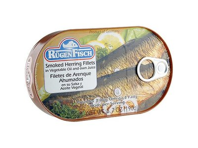 Rugenfisch Rugenfisch Smoked Herring Fillet In Oil Tin