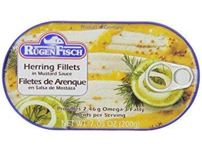 Rugenfisch Rugenfisch Herring Fillet Mustard Tin