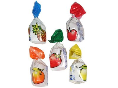 Assorted fruit bonbons - candy 8 Oz