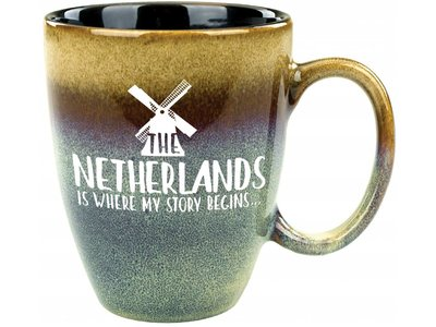 Netherlands Is Where My Story Begins Mug Tan 15 oz