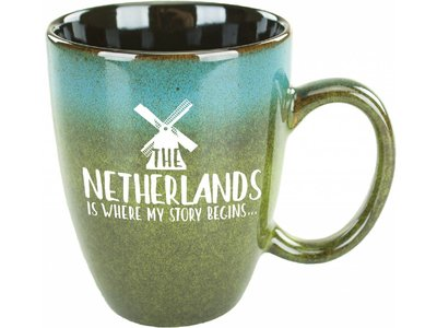 Netherlands Is Where My Story Begins Mug Blue/Green 15 oz