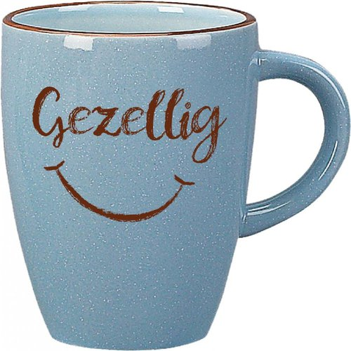 Gezellig Smile Face New Mug Blue 13 oz