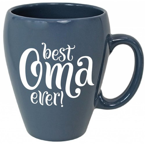 Best Oma Ever Coffee Mug 16 oz Light blue